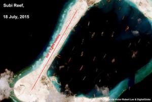 Mỹ xem xét điều tàu chiến tới các đảo nhân tạo của Trung Quốc trên biển Đông